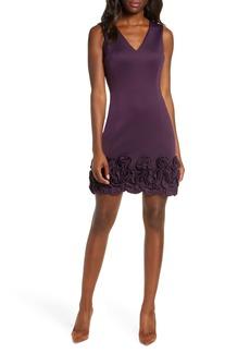 Donna Ricco Cupcake Hem Scuba Sheath Dress