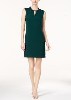 Donna Ricco Embellished Keyhole Sheath Dress