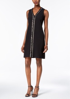 Donna Ricco Embellished Sheath Dress