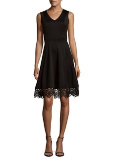 Donna Ricco Embroidered Lace Dress