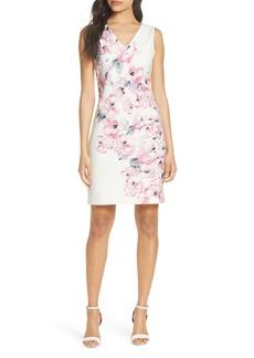 Donna Ricco Floral Explosion Sheath Dress