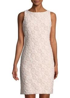 Donna Ricco Floral-Jacquard Shimmer Mini Dress