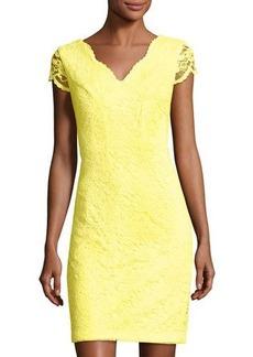 Donna Ricco Floral-Lace Sheath Dress