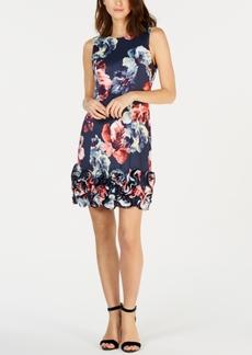 Donna Ricco Floral-Print Cupcake Dress