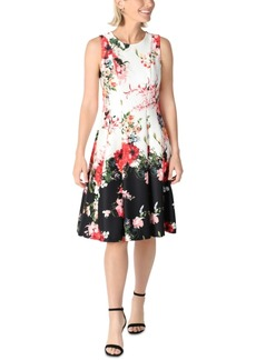 Donna Ricco Floral-Print Fit & Flare Dress