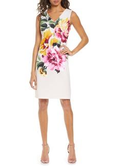Donna Ricco Floral Print Sheath Dress