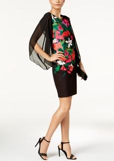 Donna Ricco Floral-Print Split-Sleeve Dress