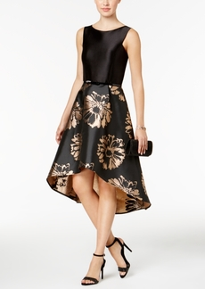 Donna Ricco High-Low Belted Party Dress