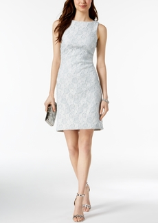 Donna Ricco Metallic Jacquard Sheath Dress