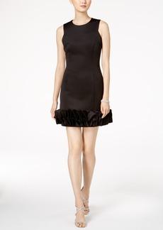 Donna Ricco Ruffle-Hem Party Dress