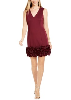 Donna Ricco Ruffle-Hem Sheath Dress