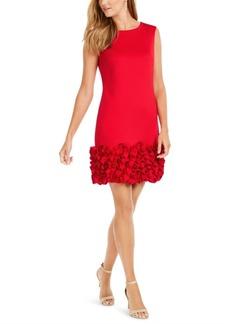 Donna Ricco Ruffled-Hem Sheath Dress