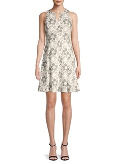Donna Ricco Sleeveless A-Line Lace Dress