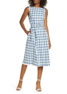 Donna Ricco Sleeveless Cotton Gingham Dress
