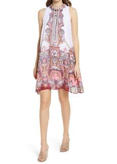 Donna Ricco Sleeveless Foldover Neck Shift Dress