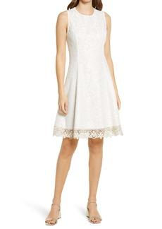 Donna Ricco Sleeveless Lace Fit & Flare Dress