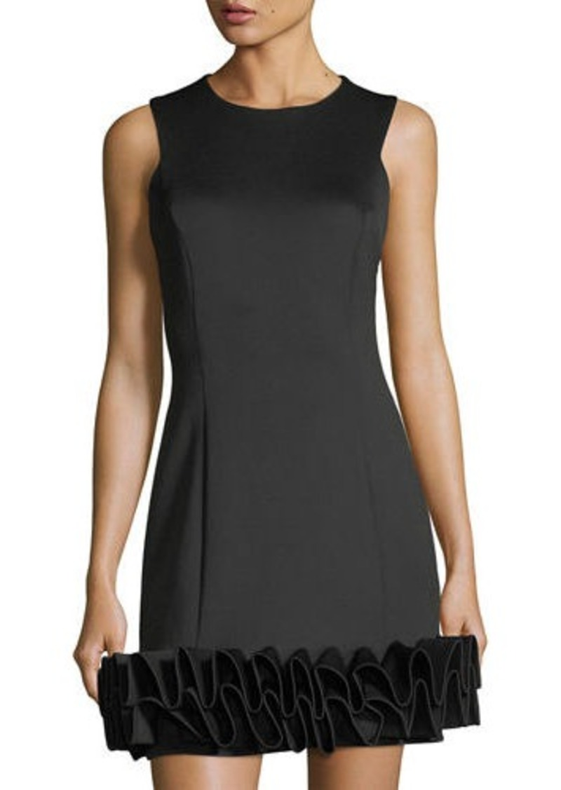 60b8f7536f6f SALE! Donna Ricco Donna Ricco Sleeveless Ruffle-Hem Scuba Cocktail Dress