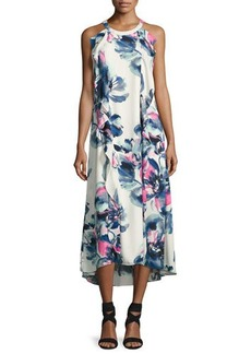 Donna Ricco Sleeveless Ruffled High-Low Dress