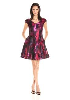 Donna Ricco Women's 1 Pc Cap Sleeve Missy Dress