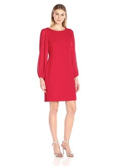 Donna Ricco Women's 1 Pc Long Sleeve Missy Dress