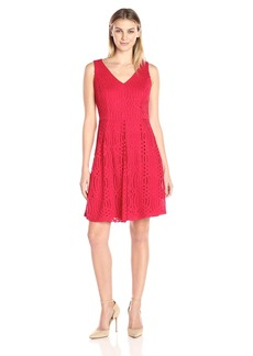 Donna Ricco Women's 1pc Lace Sleeveless Dress