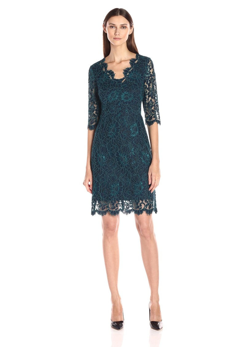 Donna Ricco Women's Lace Sheath Dress