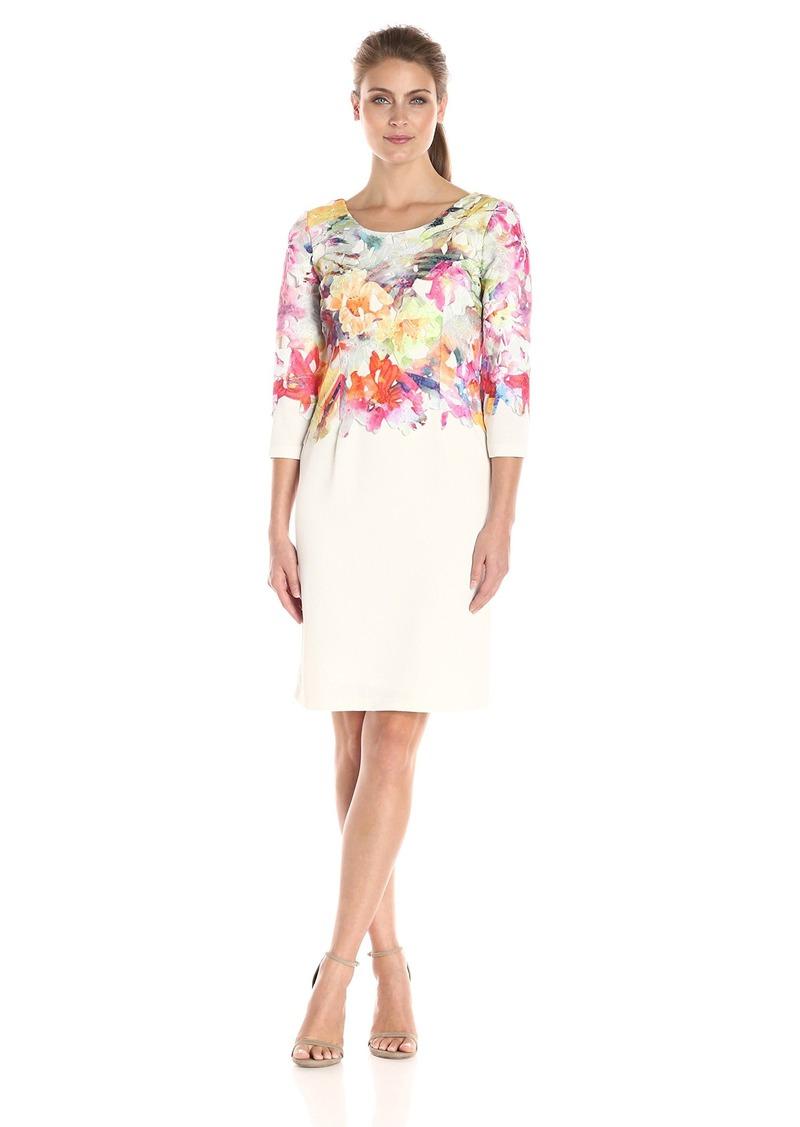 75bb45df Donna Ricco Donna Ricco Women's Long-Sleeve Printed Lace Sheath ...