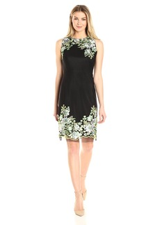 Donna Ricco Women's Sleeveless Floral Embroided Trims