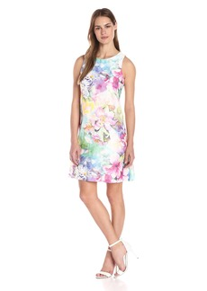 Donna Ricco Women's Sleeveless Floral-Printed Babydoll Dress