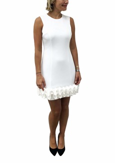 Donna Ricco Women's Sleeveless Scuba Dress with Cupcake Bottom