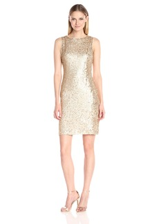 Donna Ricco Women's Sleeveless Sheath Dress with Sequins