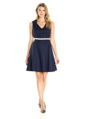 Donna Ricco Women's V Neck Fit and Flare