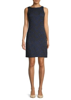 Donna Ricco Embroidered Two-Tone Sheath Dress