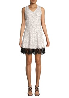 Donna Ricco Floral Fit-&-Flare Dress