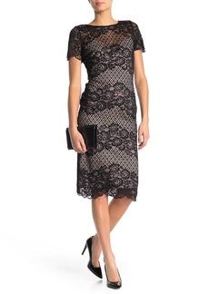 Donna Ricco Floral Lace Bodycon Dress