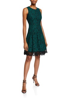 Donna Ricco Floral Lace Fit-&-Flare Dress