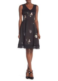 Donna Ricco Floral Scuba Dress