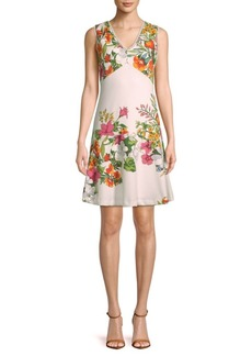 Donna Ricco Floral Sleeveless Dress