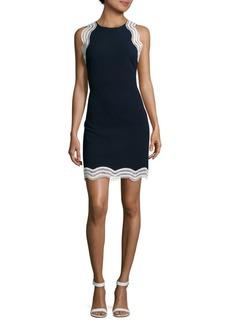 Donna Ricco Lace Trimmed Mini Dress