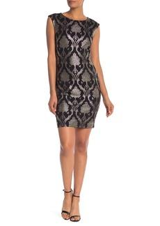 Donna Ricco Metallic Sheath Dress