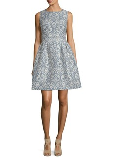 Donna Ricco Printed Fit-&-Flare Dress