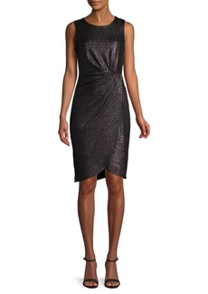 Donna Ricco Side-Twist Sheath Dress