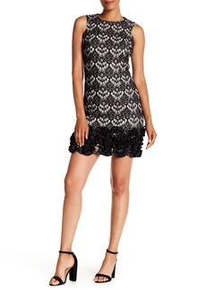 Donna Ricco Sleeveless Lace Mini Dress