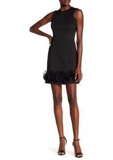 Donna Ricco Sleeveless Ruffle Hem Sheath Dress