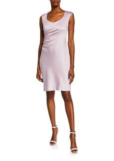 Donna Ricco Sleeveless Sheath Dress w/ Ruche Side