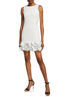 Donna Ricco Tiered Ruffle Cocktail Dress