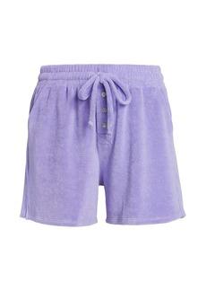 DONNI Terry Henley Drawstring Shorts