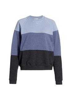 DONNI Vintage Fleece Colorblock Sweatshirt