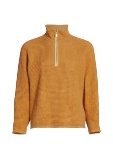 DONNI Waffle Half-Zip Sweater