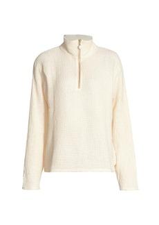 DONNI Waffle Knit Terry Sweatshirt